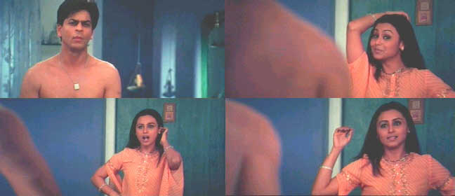 One Wonderful Scene In Which Shahrukhs Towel Drops And The Expression On Ranis Face Is Classic And Speaks Point Blank To Adult Sexuality And Desire
