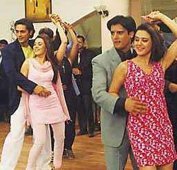 Arjun Rampal, Mahima, Jimmy and Preita