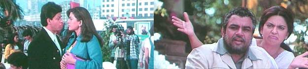 Shahrukh, Juhi and Paresh Rawal