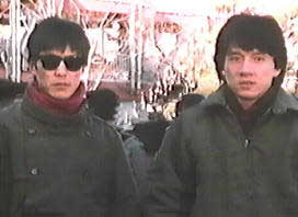 Yuen Biao and Jackie Chan